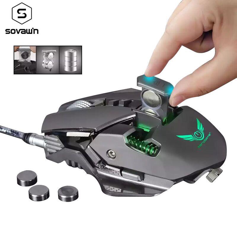 ماوس ألعاب احترافي ، G9 ، بصري ، قابل للتعديل ، USB ، DPI ، ماكرو ، قابل للبرمجة ، RGB ، للكمبيوتر الشخصي