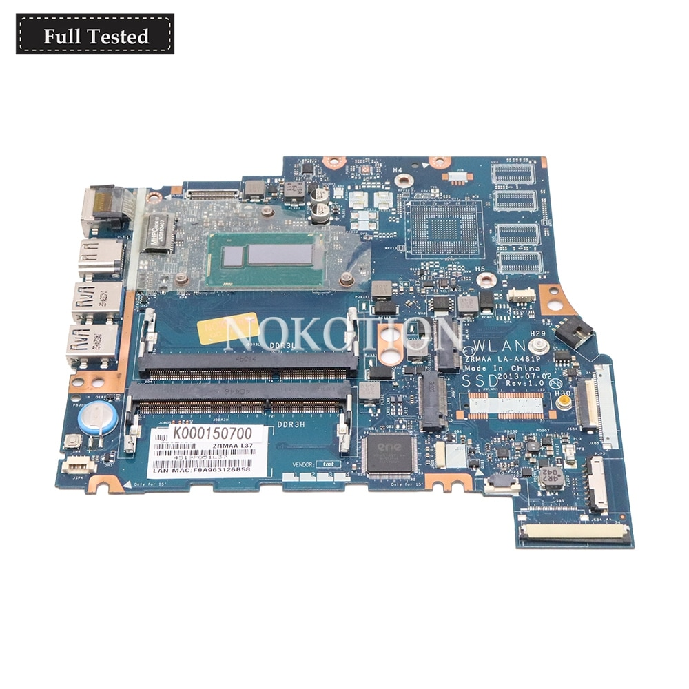 NOKOTION K000150700 ZRMAA LA-A481P Principal board Para Toshiba Satellite U40 M40 M45 Loptap Motherboard CPU onboard i5-4200U DDR3L