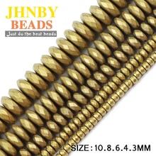 JHNBY mat facettes plat rond hématite 3/4/6/8/10mm naturel pierre minerai or couleurs perles en vrac pour bijoux bracelets faisant bricolage