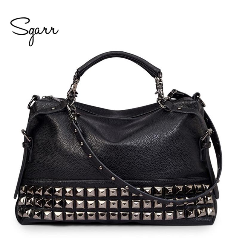SGARR-حقيبة كتف جلدية فاخرة للنساء ، حقيبة كتف ذات علامة تجارية ، حقيبة كتف جلدية كبيرة شهيرة