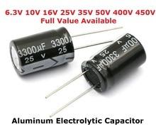 5 Pcs Aluminium Elektrolytische Condensator 6.3V 1000 Uf 10V 1500 Uf 16V 2200 Uf 25V 3300 uf 35V 50V 400V 4700 Uf 680 Uf 35V 1 Uf 2.2 Uf 3.3 Uf