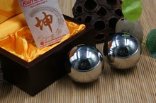 Kunmaster fer tai chi kung fu ball, vieux handball solide ball 430 en acier inoxydable balle, joueur santé balle de massage