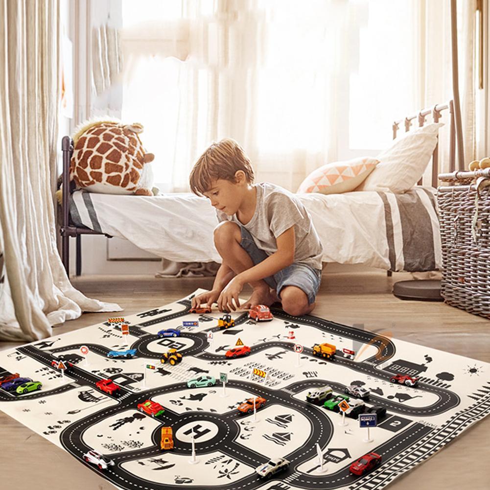 Северный Европейский стиль детский автомобиль городской сцена Taffic шоссе карта игровой коврик развивающие игрушки для детей тренажерный за...