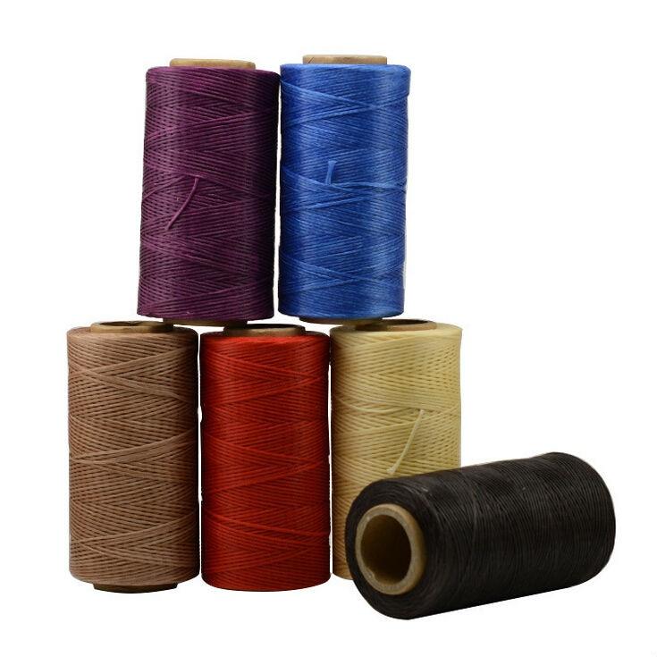Проволока из воска и кожи ручной работы, проволока длиной 1 мм и 260 м, 22 цвета, для шитья «сделай сам», плоская леска из нефрита, оптовая продаж...