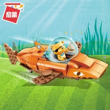 Октонавты строительные блоки GUP-B Тигр Акула автомобиль и kwazii 113 шт Образовательные Кирпичи Игрушка для мальчика подарок