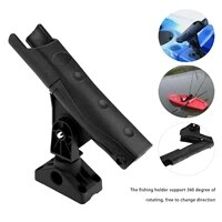 1 pc abs 360 degree rotation direction fishing rod stand pole stand bracket adjustable rod rack rowing boats kayak accessories