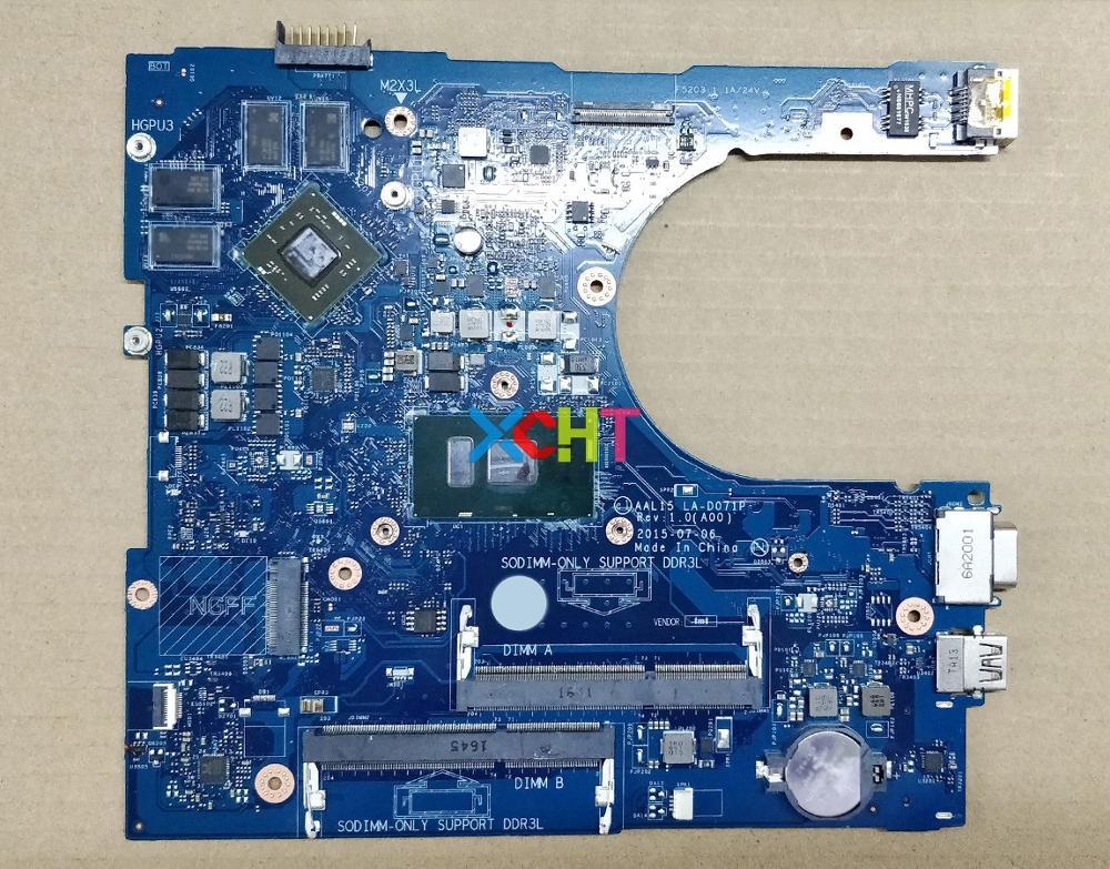 Para Dell 5559 HYCVR 0HYCVR CN-0HYCVR AAL15 LA-D071P w i7-6500U CPU 216-0864046 GPU placa base para ordenador portátil probada
