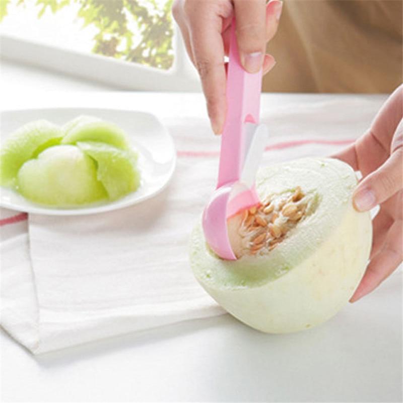 3 цвета милое Мороженое Ложка-шарик совки копать Фрукты Арбуз целлюлозы копать ложки, кухонные принадлежности гаджеты