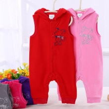 Imported baby kids clothes boys girls body suits sleeveless baby rompers body suit baby front openin