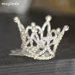 Мини Корона Ясно Камень Тиара Гребни горный хрусталь небольшой тиара аксессуары для волос ювелирные изделия