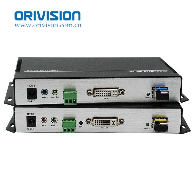 ZY-OKD501 4K * 2K DVI KVM extensor de fibra óptica 10KM con rs232/USB/audio/mic/EDID sobre fibra LC de 1 núcleo de modo único para mayor seguridad