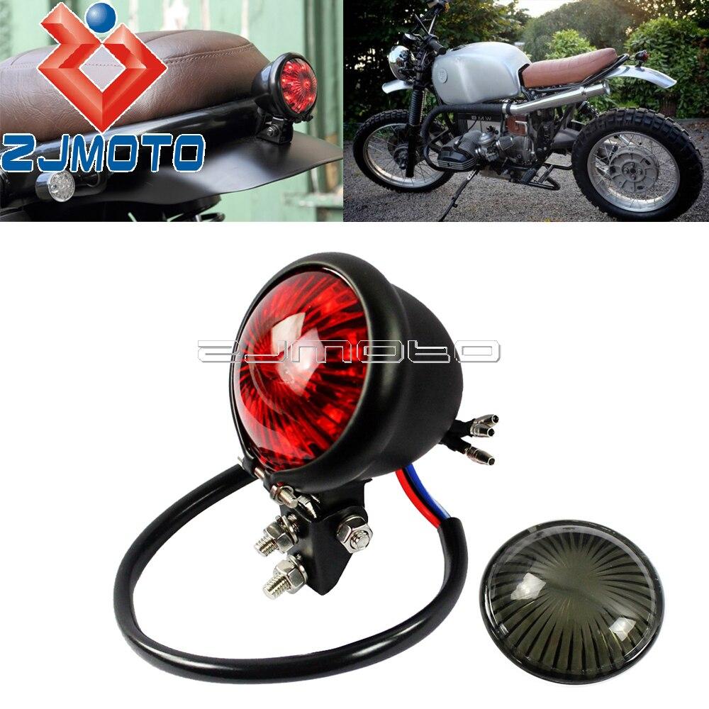 Motorcycle LED Tail Brake Light Cafe Racer Rear Stop Lights For BMW Honda XR600 CX500 CB750 Scrambler Vintage BATES Taillight
