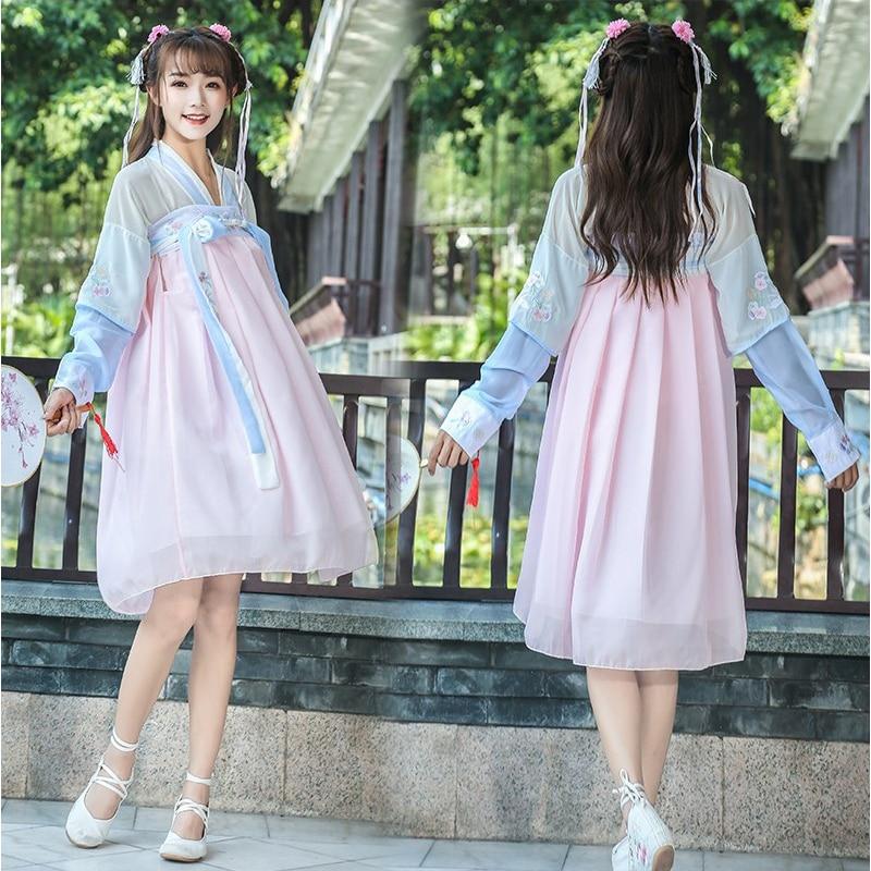 Disfraz de Baile Folclórico hanfu Nacional Chino para mujer, disfraz de princesa Tang para mujer