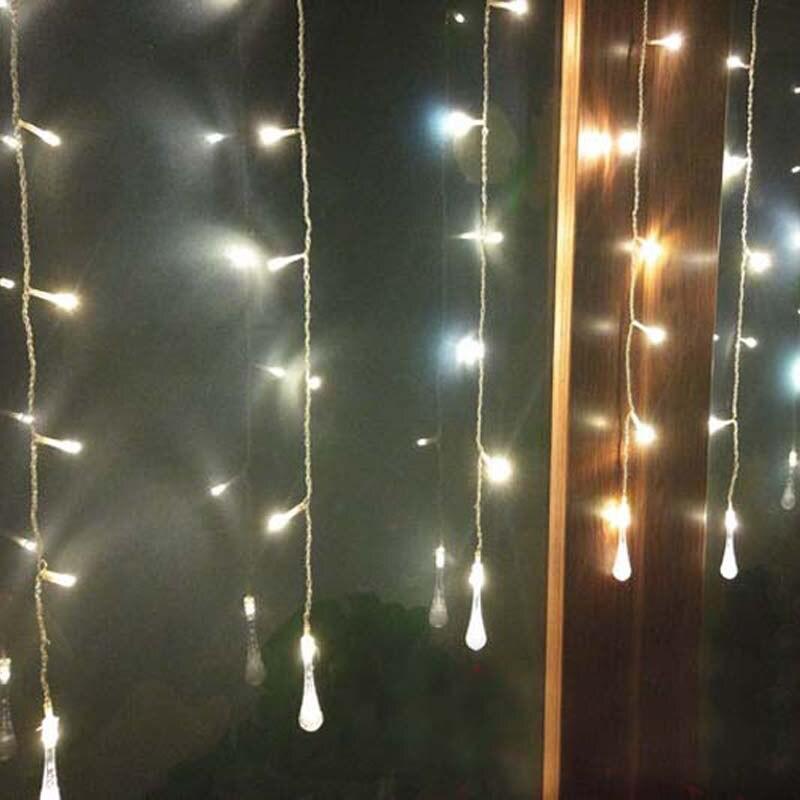 Guirnaldas De Luces LED De 1,5x0,5 M, 10 gotas De agua De...