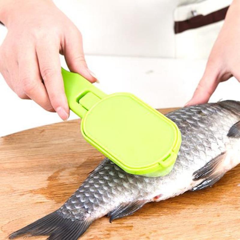 Escalador de pescado de alta calidad, práctico abridor de almejas para limpiar pescado, accesorios de cocina, herramientas de cocina 2019