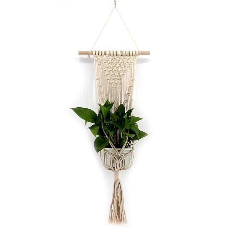 New Tassel Bohemian Macrame Woven Wall Hanging Handmade Knitting Tapestry Office Wall Decoration VQW2701
