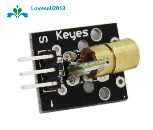 5PCS KY-008 650nm Laser sensor Module 6mm 5V 5mW Red Laser Dot Diode Copper Head for Arduino