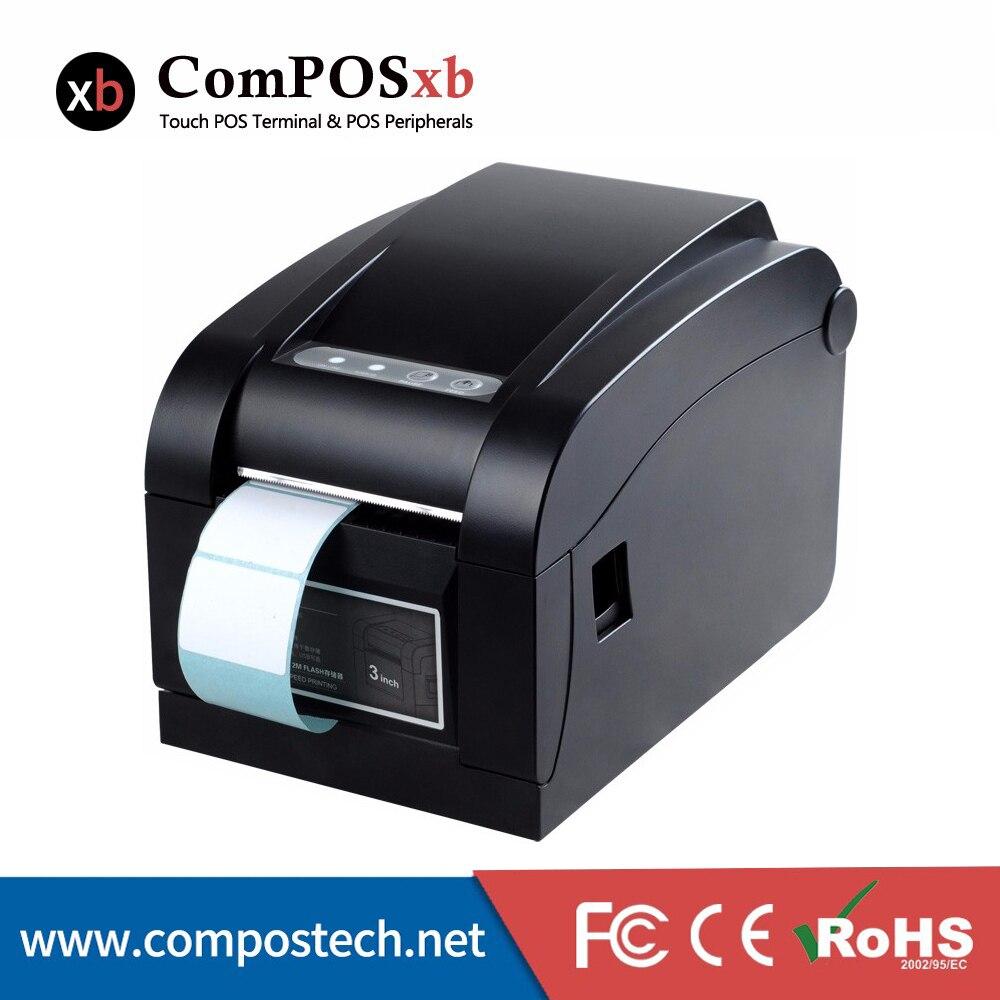 Precio barato 80mm directa impresora térmica de etiquetas con código de barras impreso etiqueta DTP350