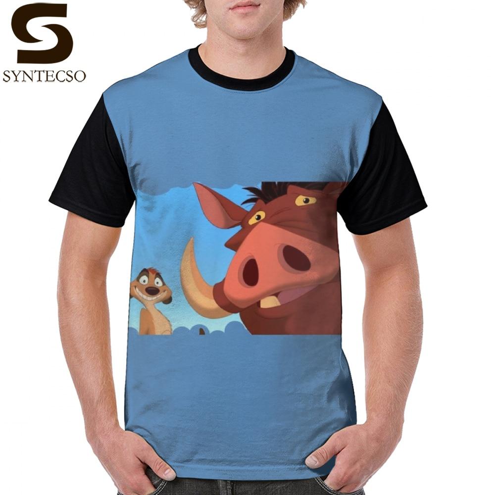 Pumba camiseta Timon E Pumba camiseta XXX hombre gráfico camiseta Streetwear divertida manga corta imprimir 100 camisa de poliéster