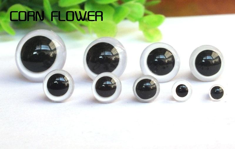 Глаза Мягкие пластиковые 5-18 мм, глаза животные для игрушек, разноцветные плюшевые, 100 шт.
