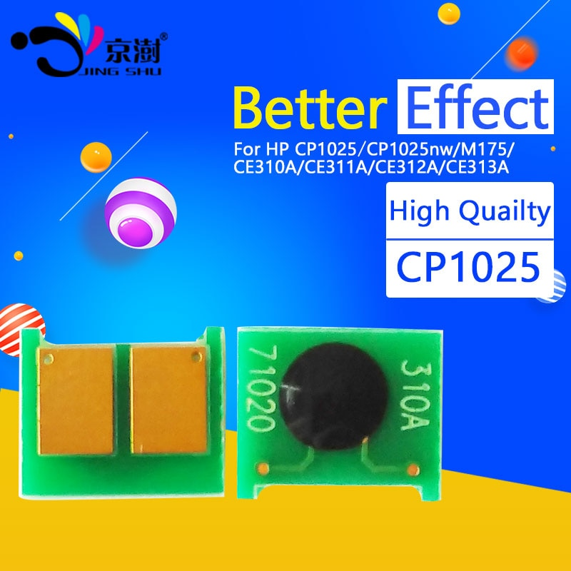 1 chip de cartucho de tóner compatible CE310A-CE313A 310a 126A para impresora hp Pro CP1025 CP1025NW M275 100 Color MFP M175a M175nw