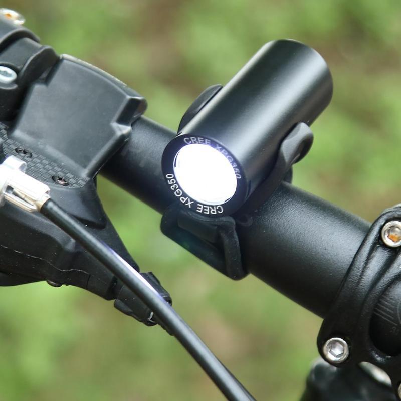 Faro delantero para bicicleta de montaña XPG, recargable vía USB, resistente al agua, 350 lúmenes, accesorios para bicicleta