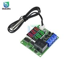 W1219 DC 12V 5V LED Dual Digital Display Thermostat Temperature Controller Regulator NTC Sensor Relay Switch Control Module