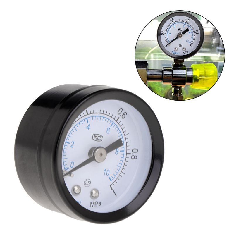 CO2 Pressure Gage Aquarium Fish Tank Carbon Dioxide Air Gauge Dial Scale PT1/8