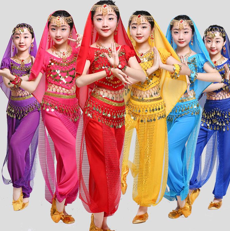 Girls Belly Dancing Costume Set Kids Indian Dance Costumes For Children Girl Bellydance Performance Egypt