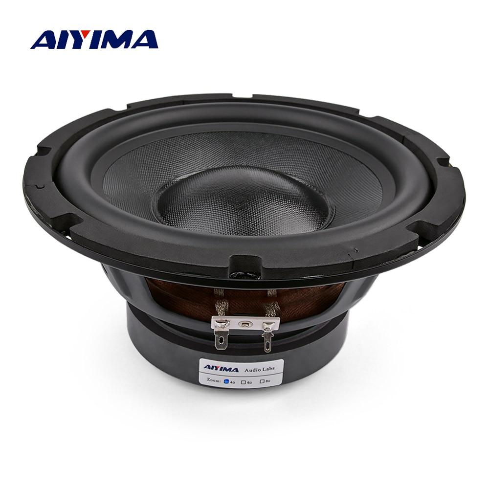AIYIMA 8 بوصة مضخم صوت المتكلم مكبر الصوت 4 8 أوم 150W عالية الطاقة طويلة السكتة الدماغية العميق باس ايفي الصوت مكبر الصوت DIY ل المسرح المنزلي