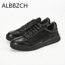 Printemps automne nouveaux hommes chaussures mode décontractée sport chaussures plates hommes en cuir véritable bout rond lacets chaussures de travail quotidien de qualité supérieure