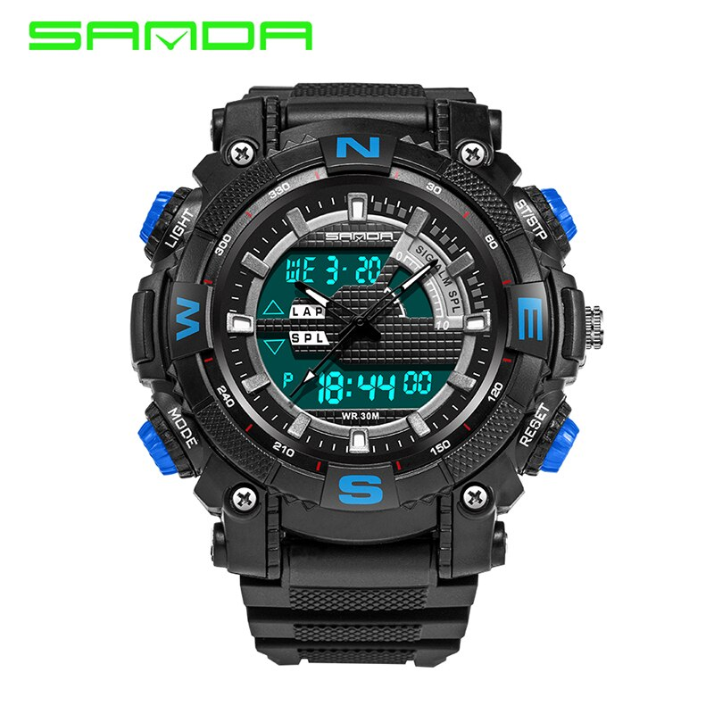 Reloj deportivo militar SANDA, reloj de pulsera Digital LED electrónico de lujo de la mejor marca para hombres, reloj Masculino