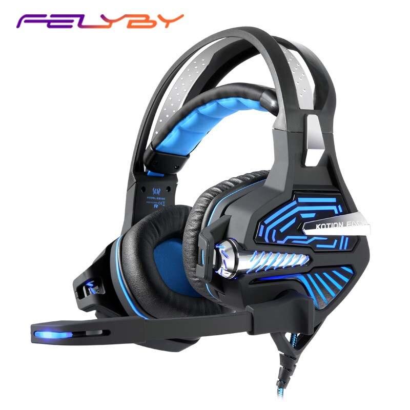 FELYBY GS100 Esports, auriculares de vibración para juego, auriculares de ordenador con Subwoofer de micrófono USB