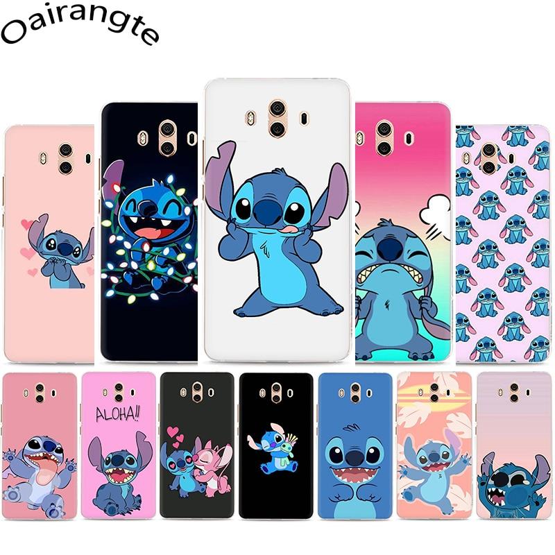 De dibujos animados de lilo stich del teléfono duro caso de Huawei Y5 Y6 Y7 primer Y9 Mate 10 20 30 Lite Pro Nova 2i 3 3i Lite 4 5i