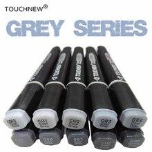 TouchNEW классные серые цвета художественные маркеры в градациях серого художника перманентные маркеры для кистей ручка для рисования маркер школьные принадлежности для студентов