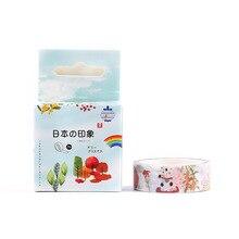 ¡Novedad! Cinta decorativa Washi para el viento para las cuatro estaciones, cinta adhesiva para álbum de recortes Diy, cinta adhesiva, suministros escolares y de oficina, papelería