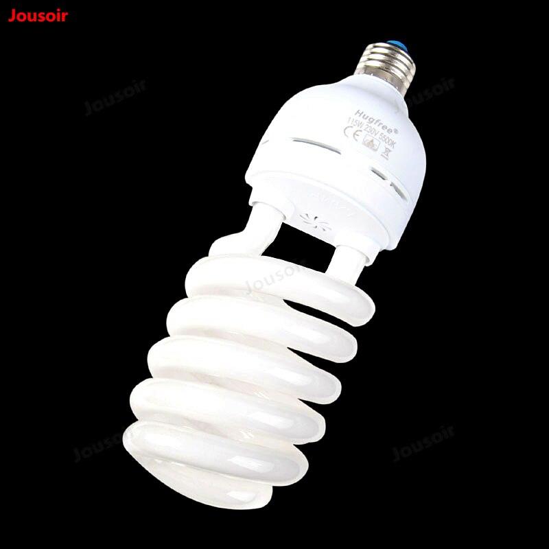 115 watt Fluorescent weiß licht professionelle fotografie birne energie sparende lampe 5500 karat Farbe temperatur E27 Schraube CD50 T11