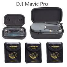 DJI Mavic برو حماية حالة كومبو 3 قطعة يبو واقية من الانفجار سلامة البطارية حقيبة + Drone الجسم حقيبة + التحكم عن بعد مربع 5 في 1