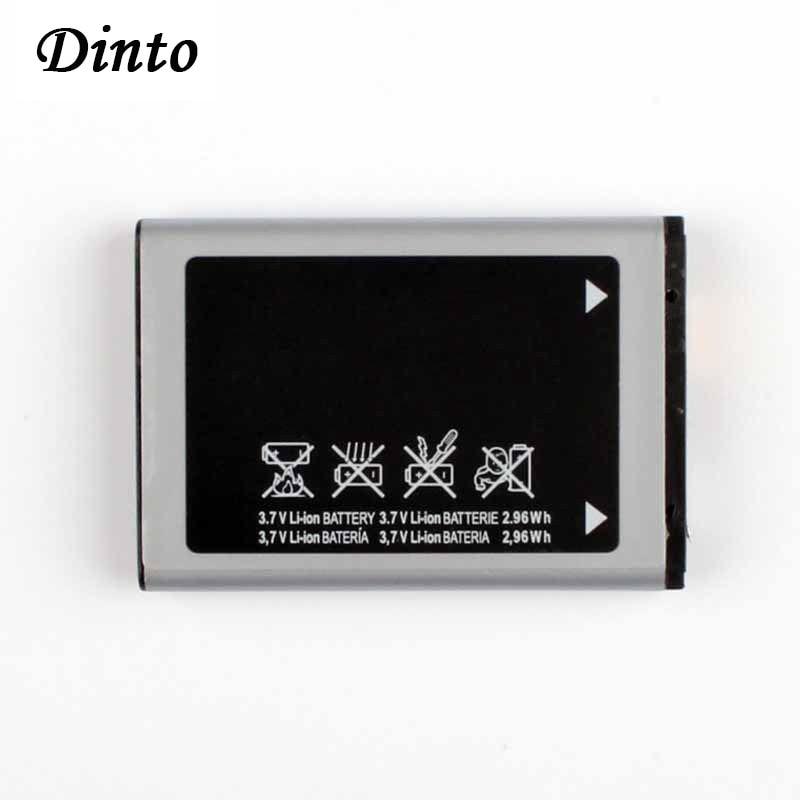 Dinto 1pc 800mAh AB463446BU Mobile Phone Battery for Samsung SGH-E210 E500 E900 F250 X150 X300 C3300