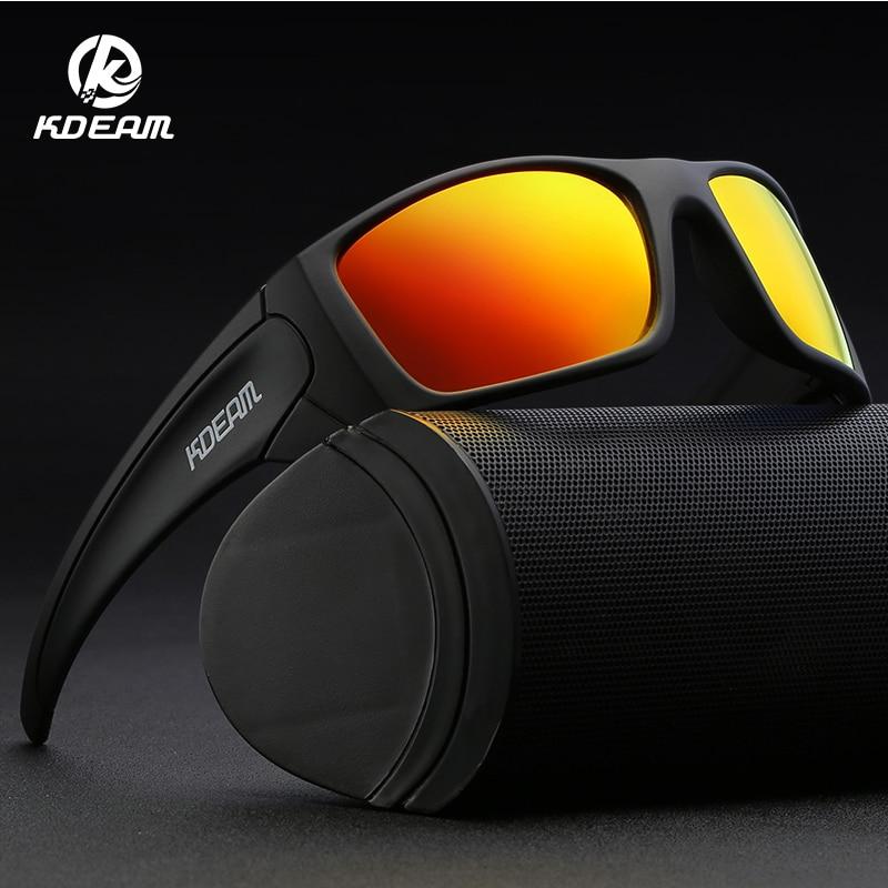 Gafas de sol KDEAM 2019 nuevas gafas de sol TR90 flexibles para hombre, gafas a prueba de viento, bicicletas de mujer, gafas de medio borde KD555