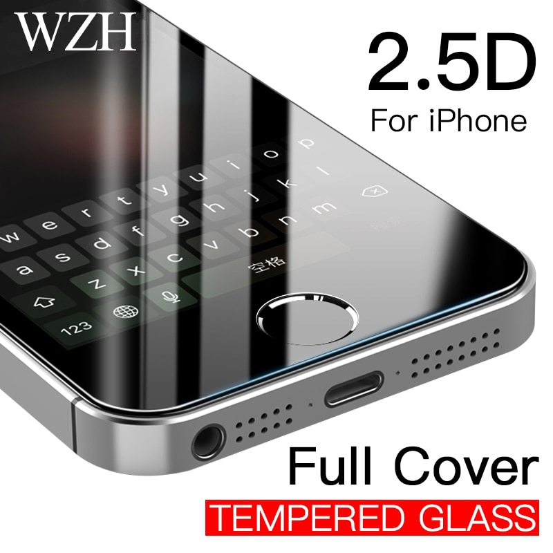 Full Cover Tempered Glass For iPhone 5 5s SE 6 6s 7 8 Plus 4s Screen Protector Protective Film for i