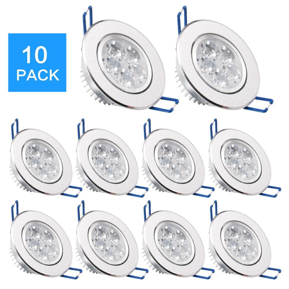 EPacket-foco LED de 7 a 25 días luz descendente regulable, lámpara de...