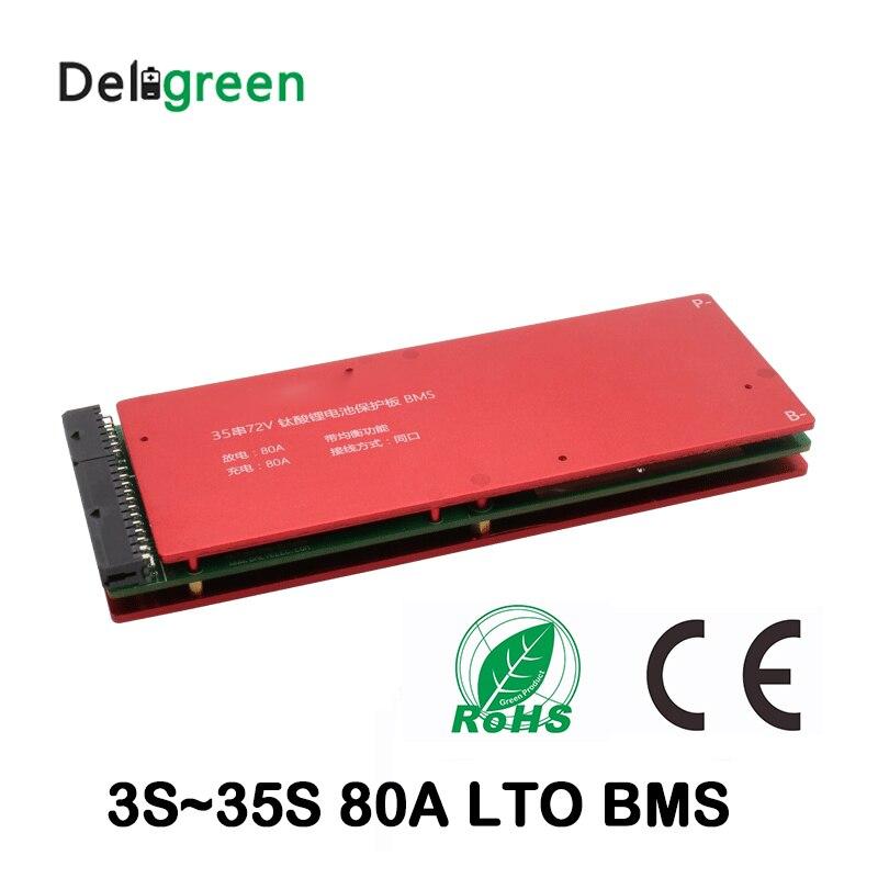 LTO Batterie Schutz Bord 3S 5S 6S 10S 15S 20S 25S 30S 80A bms mit Balance funktion 18650 lithium-titanat-akku