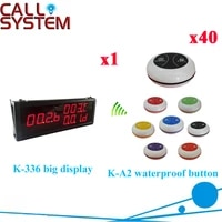 restaurant wireless number system big display k 336 with 100 waterproof call button by ce passed 1 display40 call button