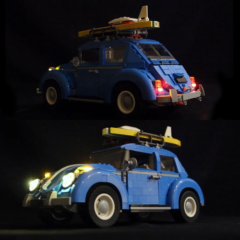 LED light up kit for lego 10252 technic City Car Beetle Model Compatible 21003 Building Blocks Bricks (only include light set)
