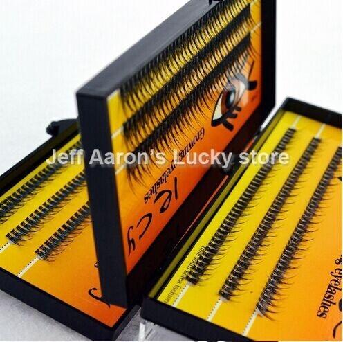 3 trays 120 Natural Long Black Individual False Eyelashes Extension Kit Makeup Tool ZY6B