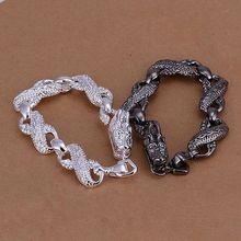 S096 Silver Color Jewelry Sets Lovely Silver 925 Jewelry Black And White Dragon Head /ajtajbaa Avlajmsa