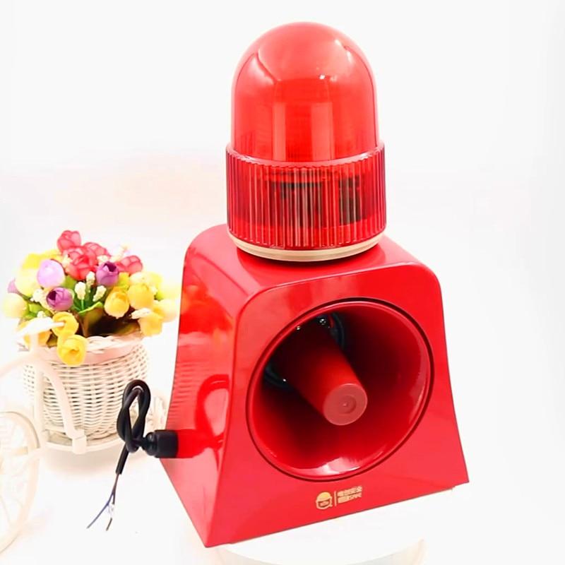 Warning Signal Beacon Light Horn Siren 120db Outdoor Audible and Visual Alarm Annunciator for Safety Prompt 12V 24V 220V enlarge