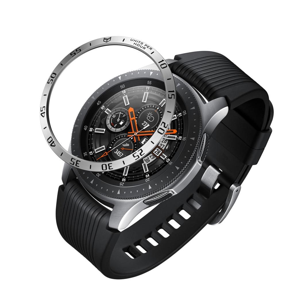 Смарт-часы крышка для Samsung Galaxy часы 46 мм ободок кольцо клейкая крышка против царапин металлические аксессуары #20