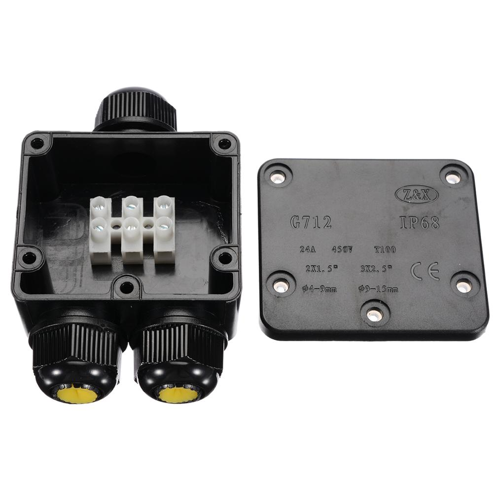 10 pieces a lot electrical plastic junction box waterproof electrical junction box 166 166 91 mm 6 5 6 5 3 6 inch 3 Way Electrical Junction Box Plastic Waterproof Electrical Junction Box Cable Wire Connector IP68 For External Wiring